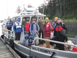Volunteer Crew and Steve, ready to head out to Patos Island!