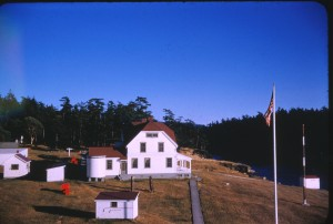 The flag pole in 1958