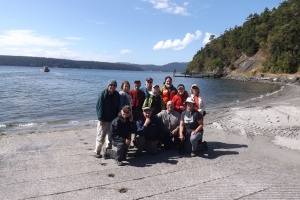 American Hiking Society Volunteers back at Odlin Park, Lopez Island