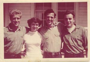 Patos Bill, left with Clarence and Elaine Titterington in the early 1950s.